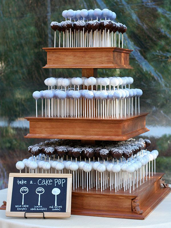 Cake Pop Wedding Cake | amanda jayne events blog