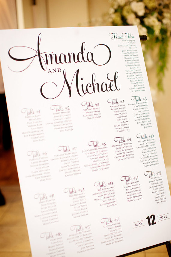 wedding seating chart inspiration | amanda jayne events blog