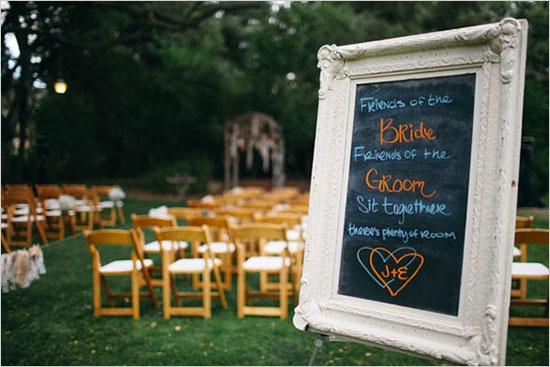 wedding seating sign | amanda jayne events blog