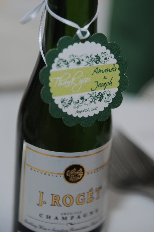 mini champagne favors
