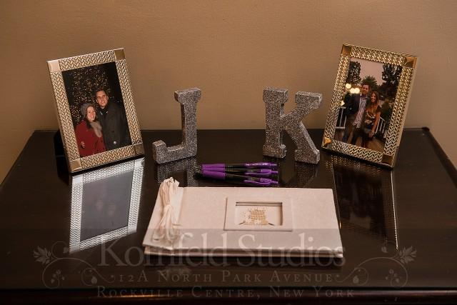 guest book & sparkly monogram by kornfeld photography | amanda jayne events blog
