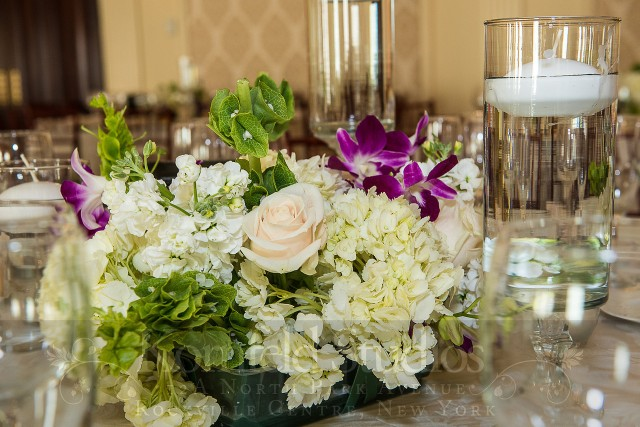 centerpiece with floating candle by kornfeld photography | amanda jayne events blog