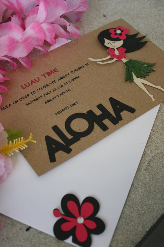 luau invitation ideas | amanda jayne events blog