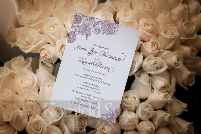 invitation and white roses by kornfeld photography | amanda jayne events blog