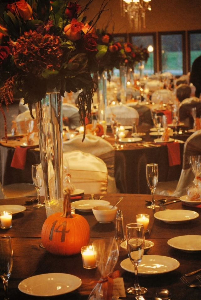 pumpkin wedding table numbers