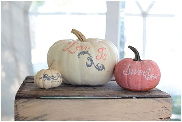 pumpkin wedding decor - love is sweet