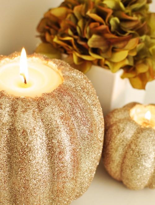 glitter pumpkin centerpiece ideas