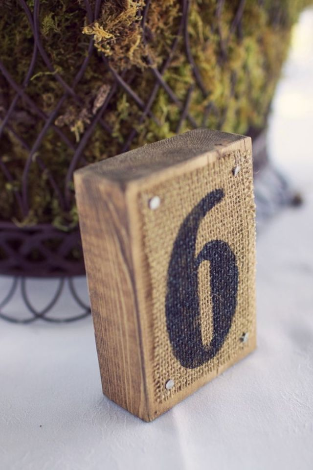 rustic wedding numbers