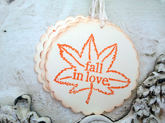 fall wedding favor gift tags