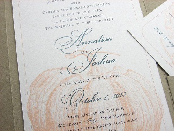 pumpkin wedding invitations