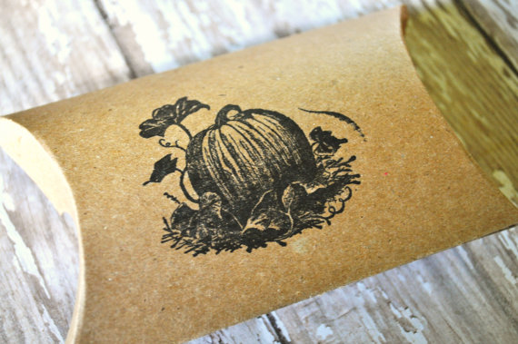 wedding pumpkin favor box