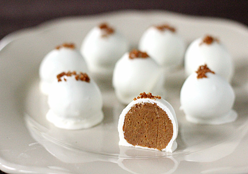 pumpkin cheesecake truffles