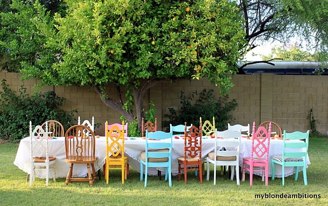 mismatched event seating