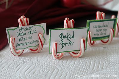 candy cane buffet labels