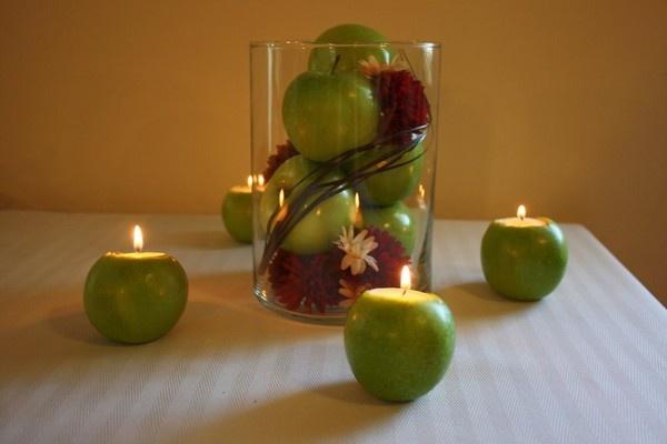 DIY apple centerpieces