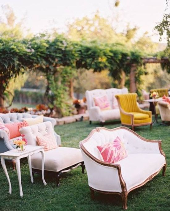 mismatched wedding seating
