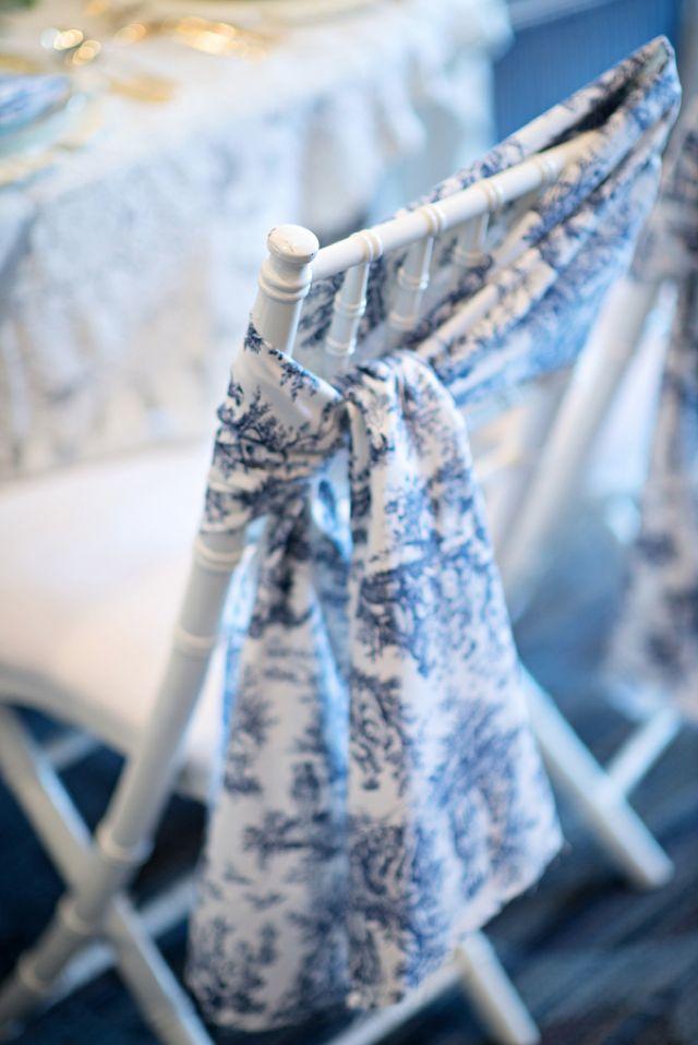 toile chair ties