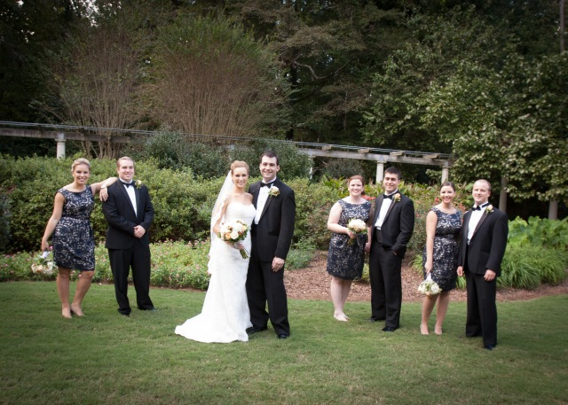 mike & melissa's georgia garden wedding