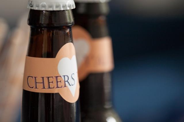 homebrew beer wedding favor - hoppily ever after