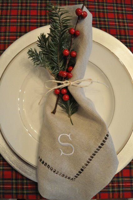 diy christmas place setting and place card ideas