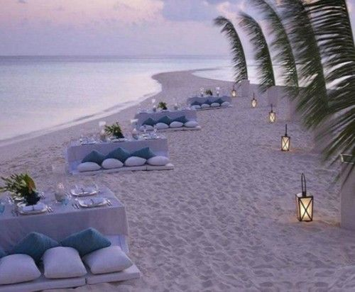 beachside seating for weddings or events