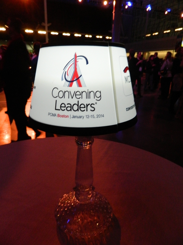 lampshade branding opportunity at events