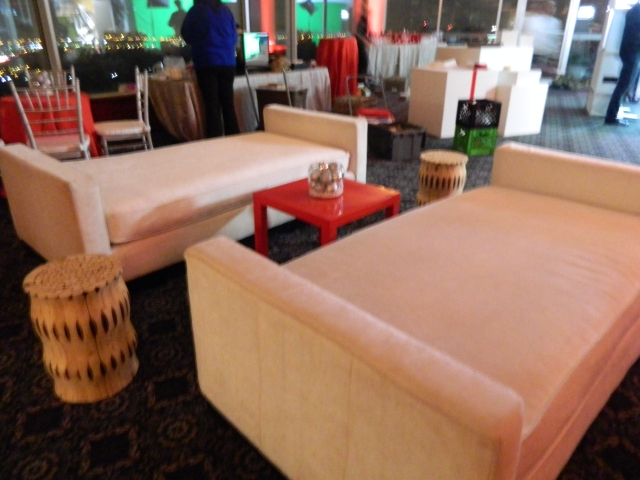 holiday party decor - lounge furniture